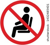 no sitting sign and symbol ... | Shutterstock .eps vector #1432485401