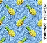 modern art  ananas decorative...   Shutterstock .eps vector #1432504061