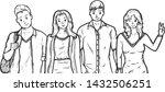 vector illustration of group of ... | Shutterstock .eps vector #1432506251