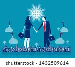 shaking hands partners... | Shutterstock .eps vector #1432509614