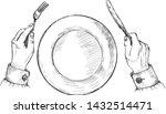 vector illustration of fork and ... | Shutterstock .eps vector #1432514471