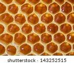 Fresh Honeycomb Close Up Macro