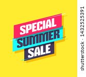 special summer sale shopping... | Shutterstock .eps vector #1432525391