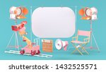 the white screen is surrounded... | Shutterstock . vector #1432525571