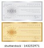 gift certificate   voucher  ... | Shutterstock .eps vector #143252971
