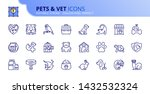 simple set of outline icons... | Shutterstock .eps vector #1432532324