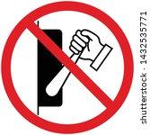 do not touch. warning sign... | Shutterstock .eps vector #1432535771