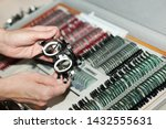 ophthalmologists are preparing... | Shutterstock . vector #1432555631