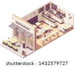 vector isometric restaurant or... | Shutterstock .eps vector #1432579727