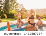 group of friends having fun at...   Shutterstock . vector #1432587197