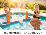 group of friends having fun at...   Shutterstock . vector #1432587227