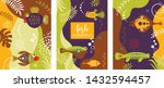 collection of abstract... | Shutterstock .eps vector #1432594457