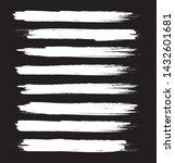 brush stroke set isolated on... | Shutterstock .eps vector #1432601681