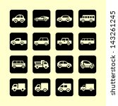 auto icon set | Shutterstock .eps vector #143261245