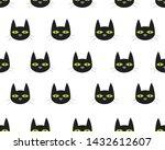 seamless pattern of cute face...   Shutterstock .eps vector #1432612607