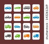 transport icons | Shutterstock .eps vector #143261269