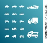 cars pictogram set | Shutterstock .eps vector #143261281