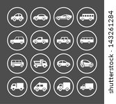 car icon set | Shutterstock .eps vector #143261284