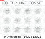 set of 1000 thin line icons ...