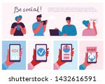 be social  vector illustration... | Shutterstock .eps vector #1432616591