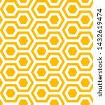 yellow and white hexagons... | Shutterstock .eps vector #1432619474