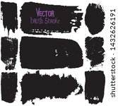 paint strokes with a dry brush...   Shutterstock .eps vector #1432626191