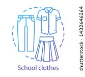 school uniform  clothes concept ... | Shutterstock .eps vector #1432646264