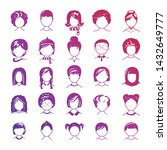 set of avatar or user icons.... | Shutterstock .eps vector #1432649777