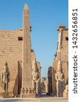 the obelisk and the statues of...   Shutterstock . vector #1432656851