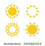 sun icon set. summer rest sign. ... | Shutterstock .eps vector #1432662314