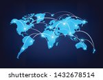 abstract technology global map... | Shutterstock .eps vector #1432678514