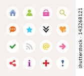 16 popular colors icon basic... | Shutterstock .eps vector #143268121