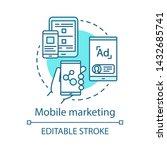 mobile marketing blue concept... | Shutterstock .eps vector #1432685741