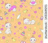 seamless pattern with cute...   Shutterstock .eps vector #143269051