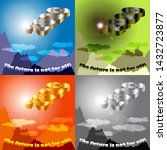 figures 2020 in the sky and the ... | Shutterstock .eps vector #1432723877