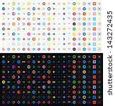 400 arrow sign icon set. volume ... | Shutterstock .eps vector #143272435