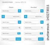 search bar template   vector...
