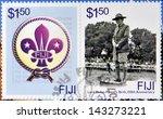 fiji   circa 2007  a stamp... | Shutterstock . vector #143273221