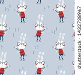 seamless childish pattern with... | Shutterstock .eps vector #1432738967