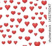 heart icons seamless pattern.... | Shutterstock .eps vector #1432750247