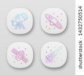 astronomy app icons set. space...