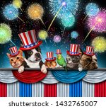 Stock photo fourth of july pet celebration and independence day pets celebrating the united states national 1432765007