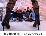happy friend enjoying drink...   Shutterstock . vector #1432770191