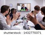 group of businesspeople having... | Shutterstock . vector #1432770371