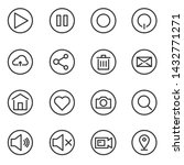 media wed icon  button line ...
