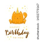 birthday greeting card in... | Shutterstock .eps vector #1432773167