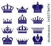 vector crown silhouette. a... | Shutterstock .eps vector #1432778474