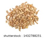 Wood Smoking Chips Isolated On...
