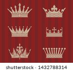 vector crown silhouette. a... | Shutterstock .eps vector #1432788314