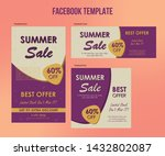 summer sale design social media ... | Shutterstock .eps vector #1432802087